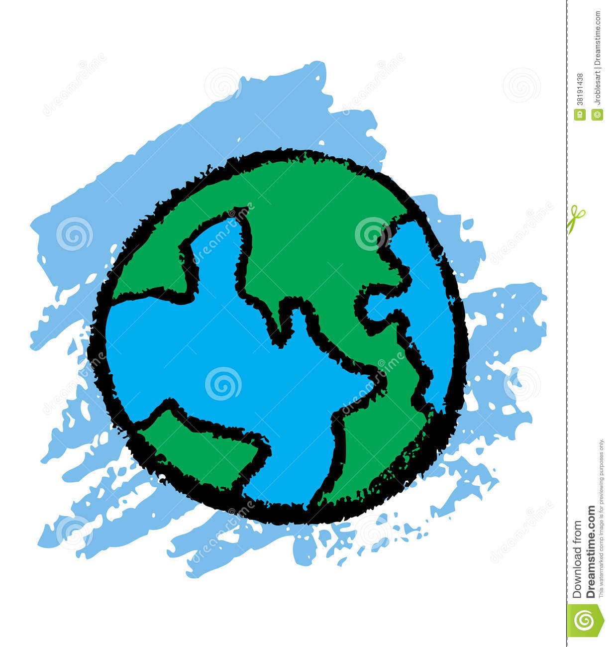 Earth Sketch Royalty Free Stock Photos Image 38191438