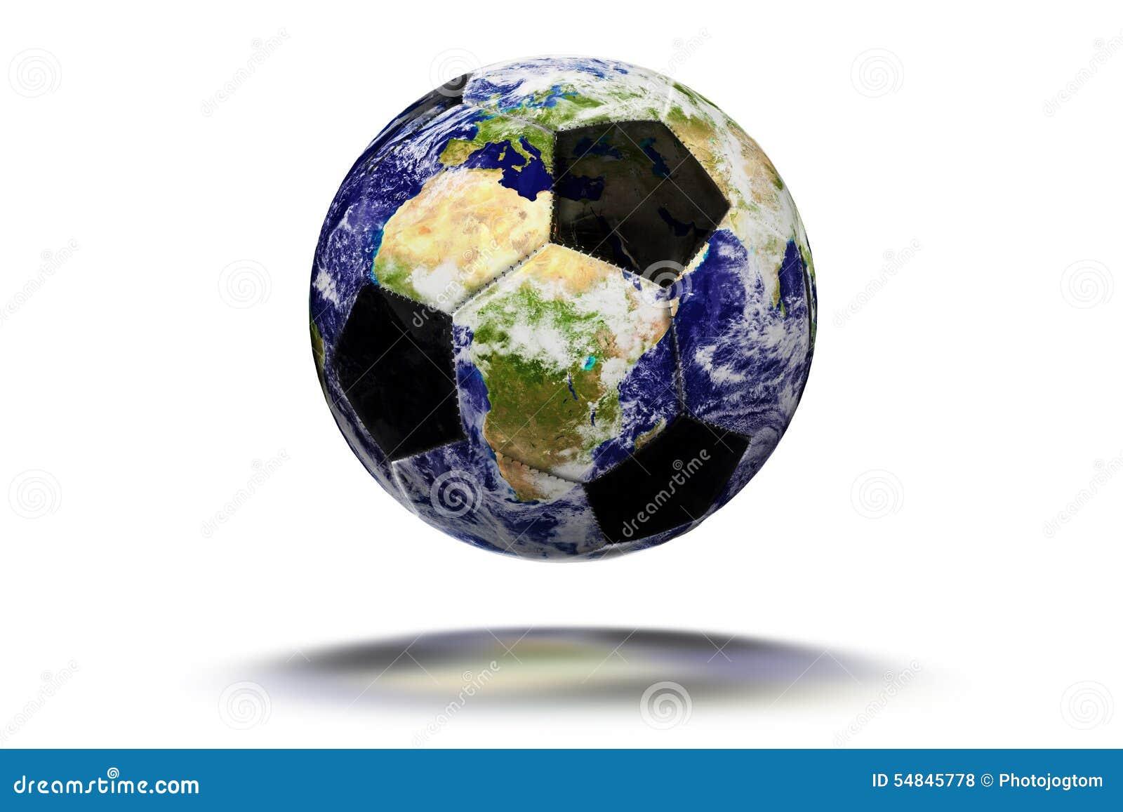 Earth Soccer Ball - Earth Texture By NASA.gov Stock Photo ...