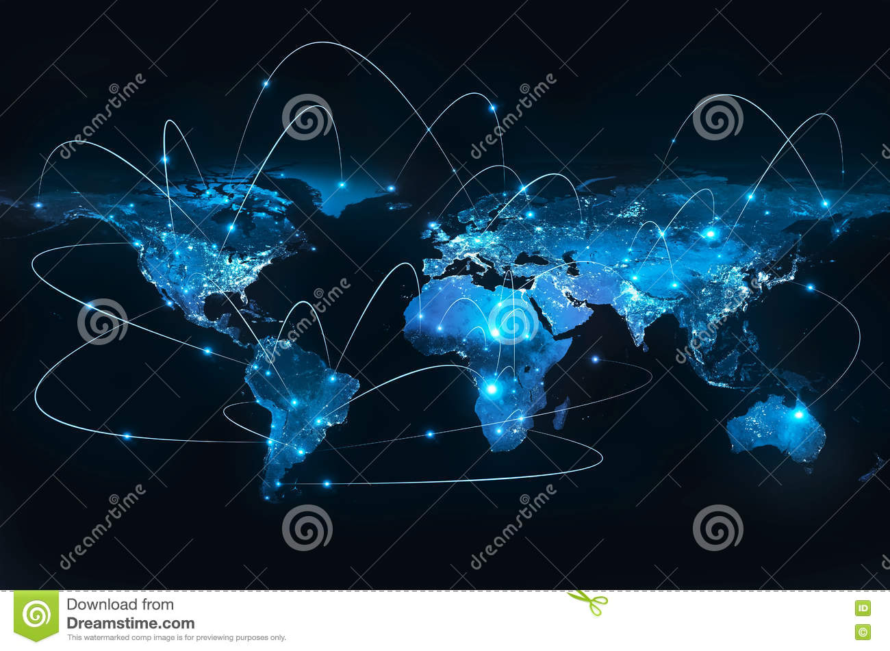 Earth from Space. Best Internet Concept of global business from concepts series. Elements of this image furnished by