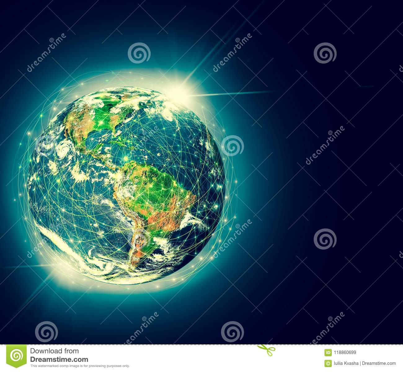 Earth From Space Best Internet Concept Of Global Business Elements