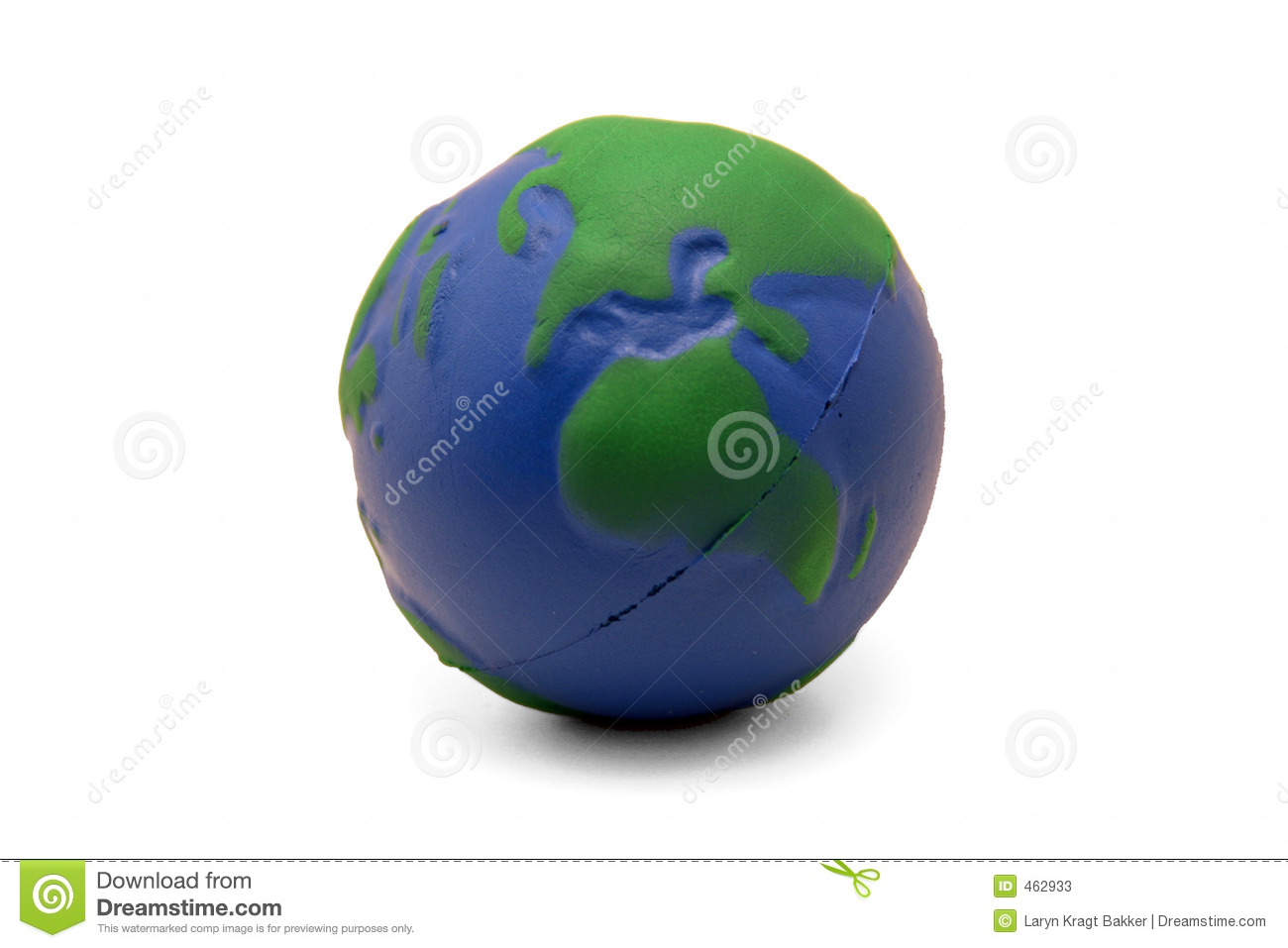 Download Earth Squeeze Ball (II) stock image. Image of green, africa - 462933