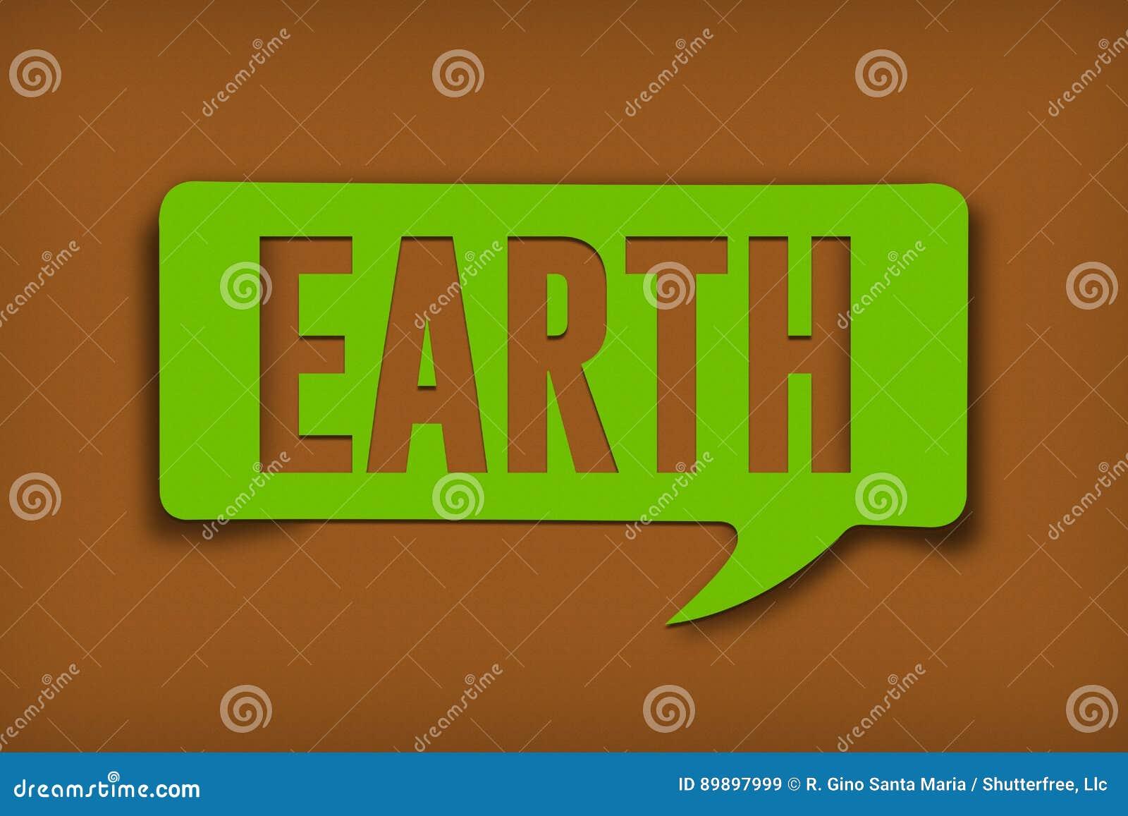 Earth Text Bubble
