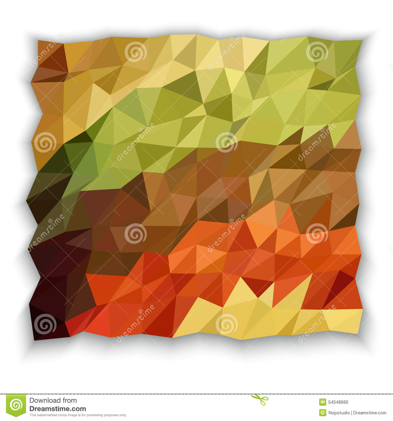 Earth Tone Color Of Triangle Abstract Wallpaper Stock