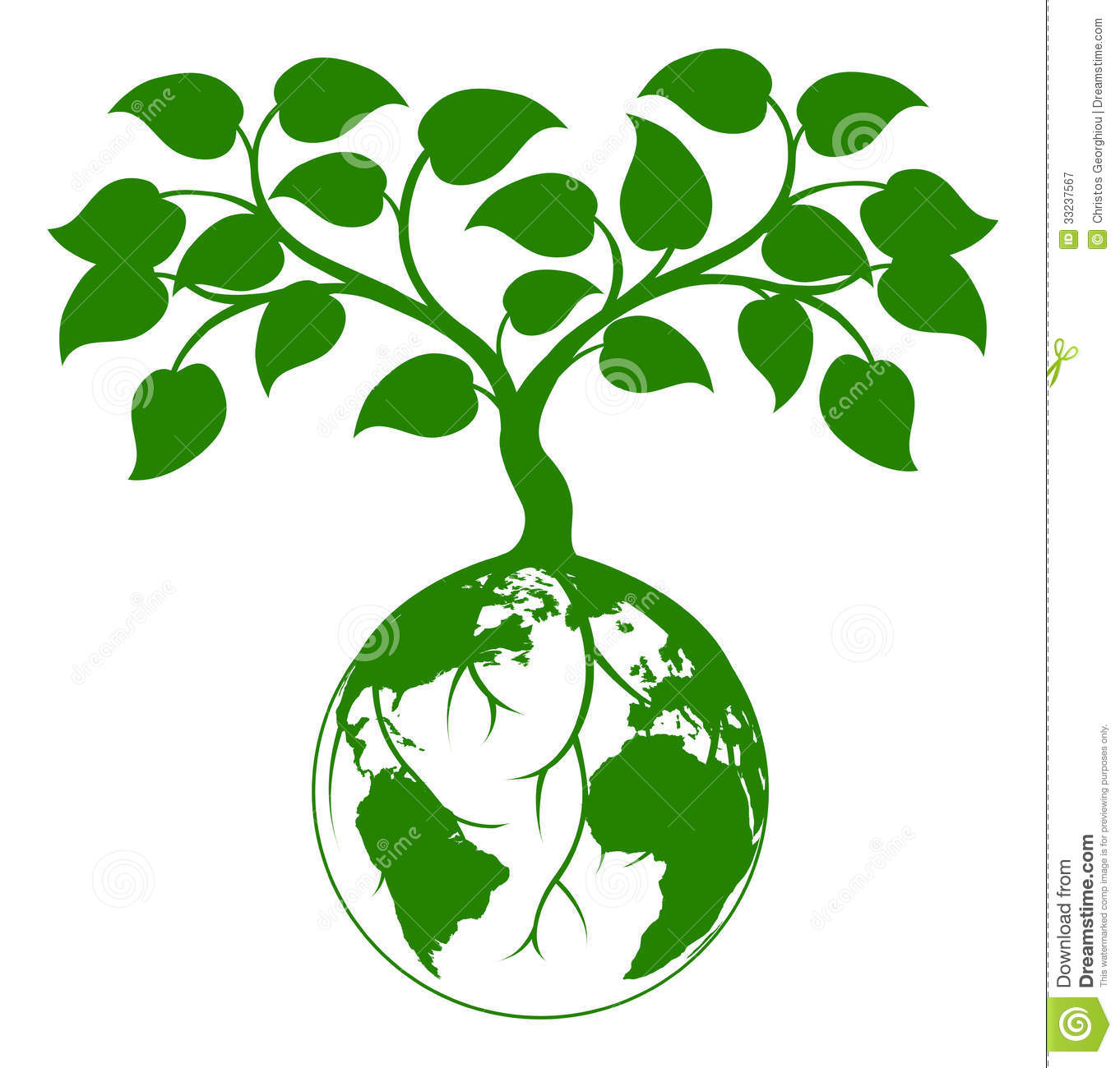 Earth Tree Graphic Royalty Free Stock Photography  Image: 33237567