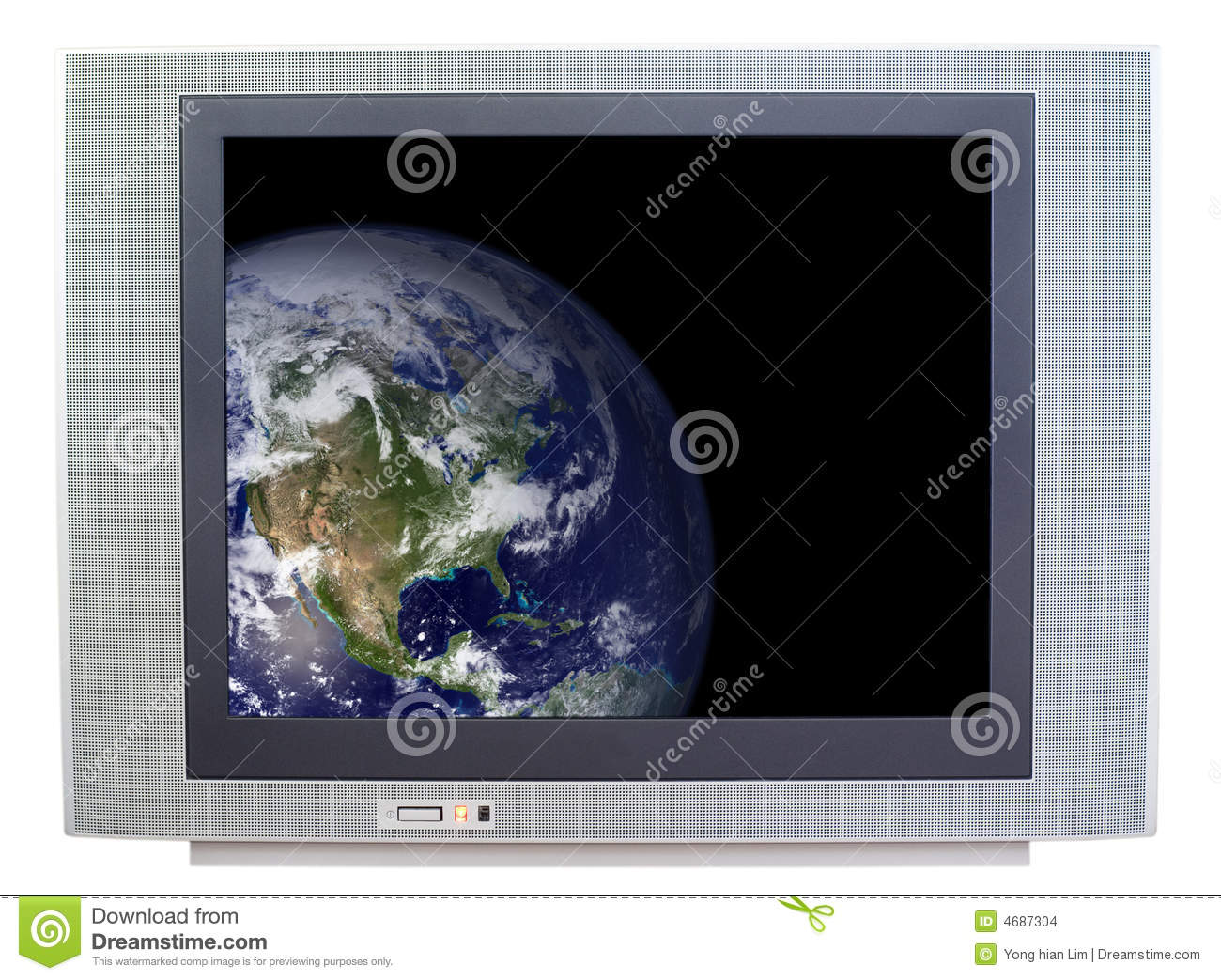 Image Result For Television Showing The Earth Isolated On White Background Public Domain Image Of Earth