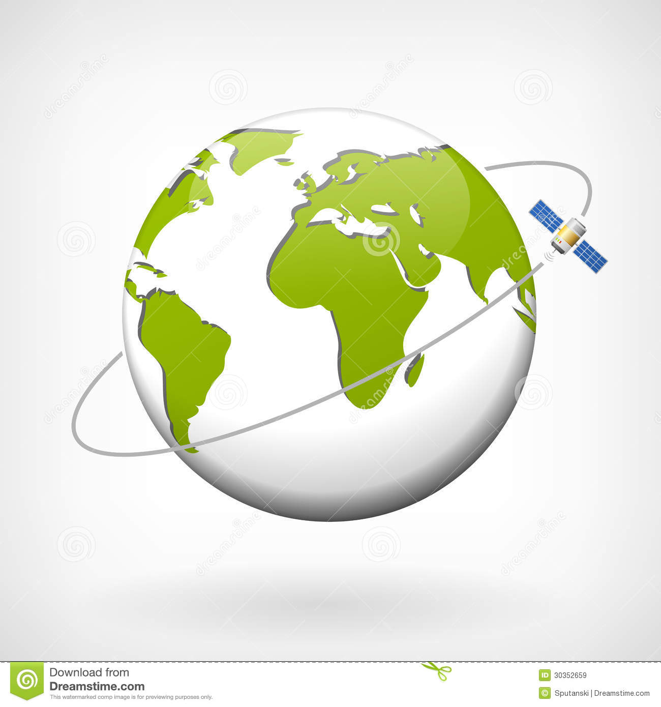 Earth Vector Icon Width Satellite Royalty Free Stock ...