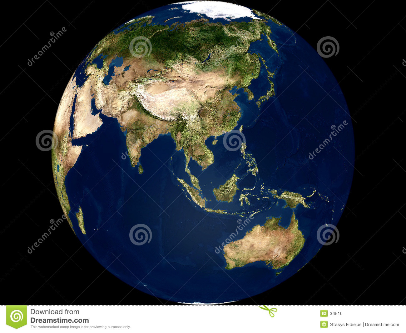 Earth view - Asia and Australia