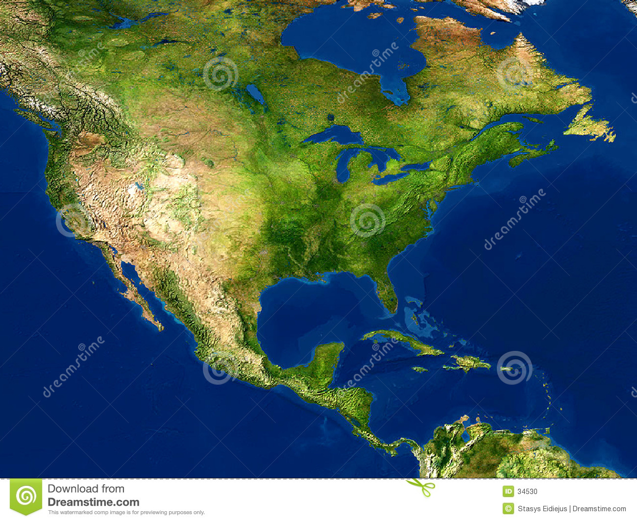 Earth View Map North America Stock Illustration Image - Map of america
