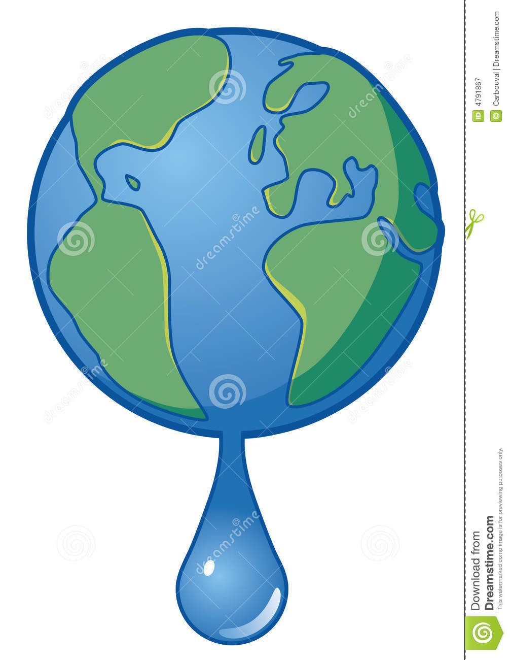 Earth water stock vector. Image of ocean, water, pollute ...