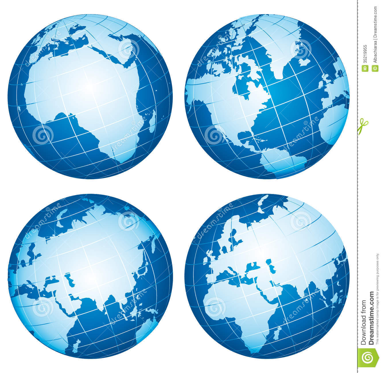 Earth World Globes Stock Vector Illustration Of China - World earth