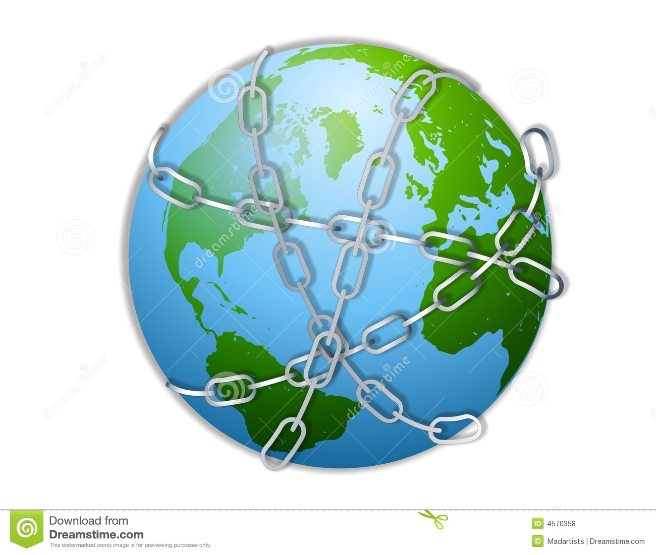 Earth Wrapped In Chains Royalty Free Stock Photos - Image: 4570358