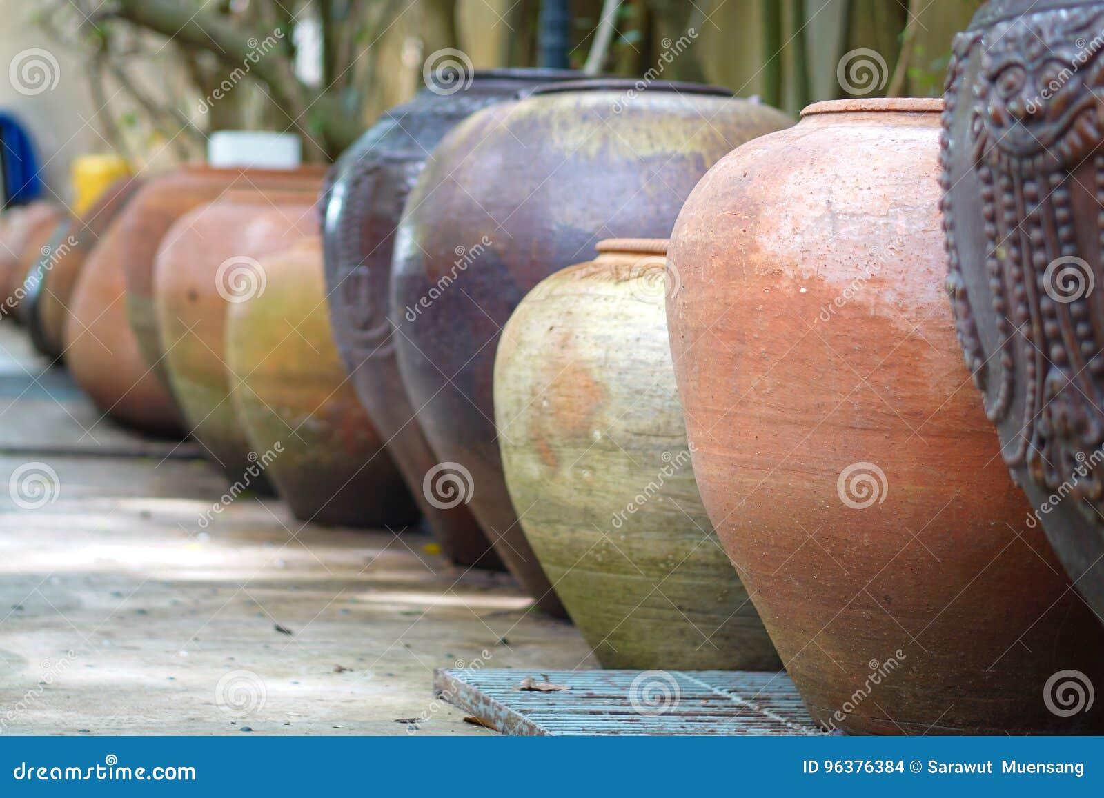 Earthenware handmade old clay pots