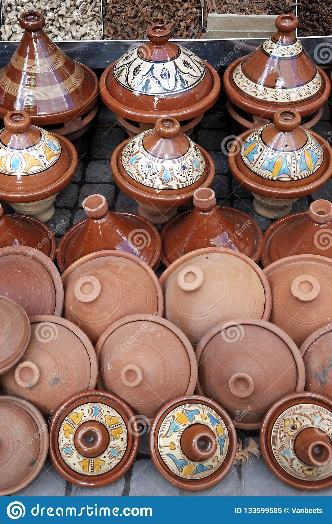 Earthenware Tajines And Bowls From Fez Stock Image - Image of ethnic ... aaa5135903c