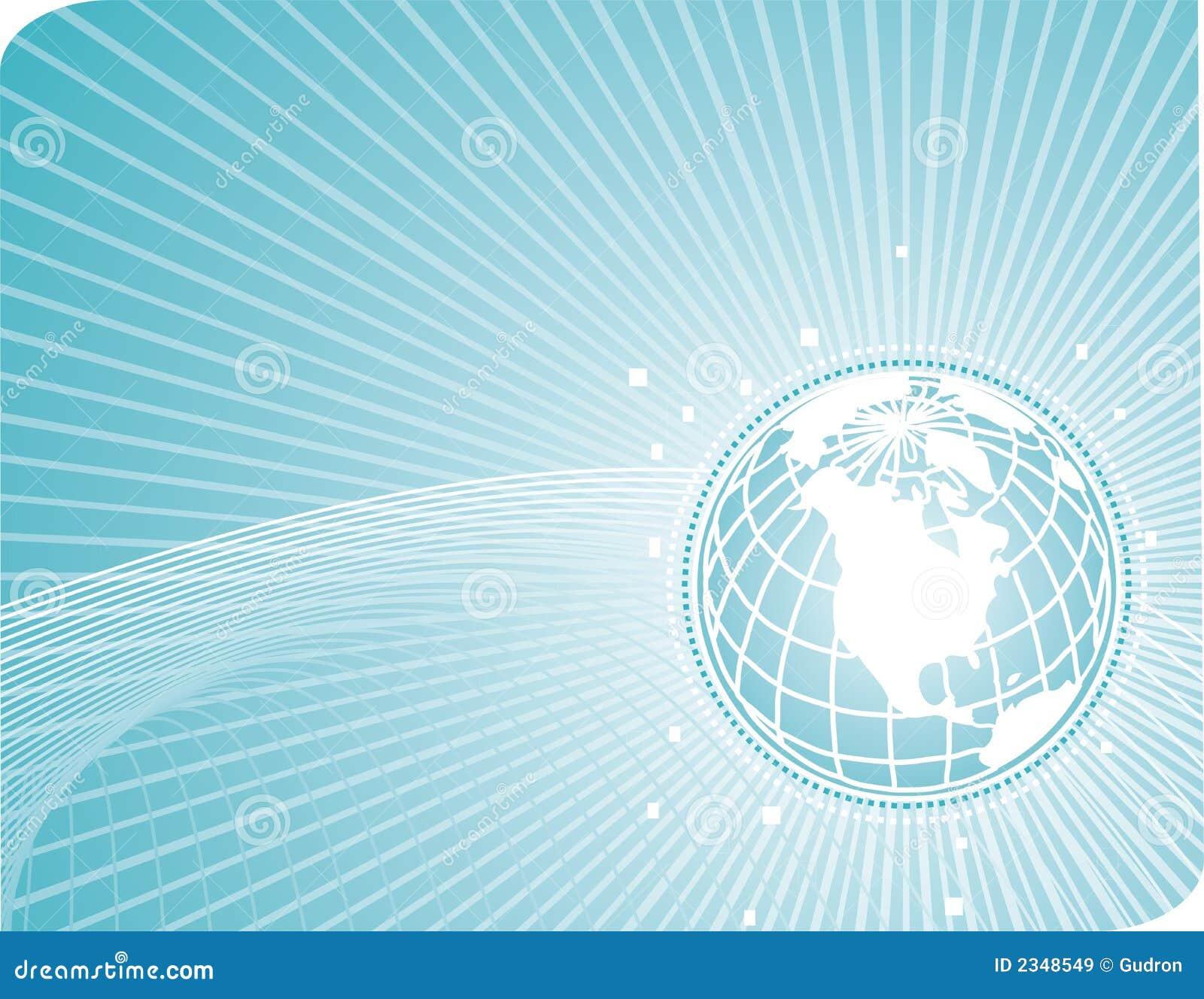 Earthglobe con las líneas de la tecnología