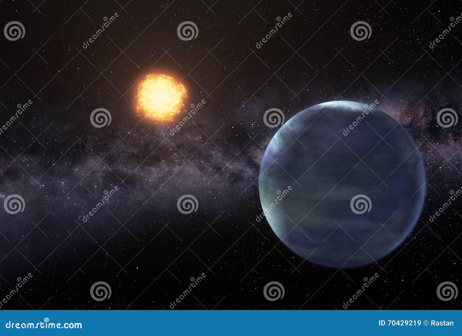 Earthlike planeta w głębokiej przestrzeni