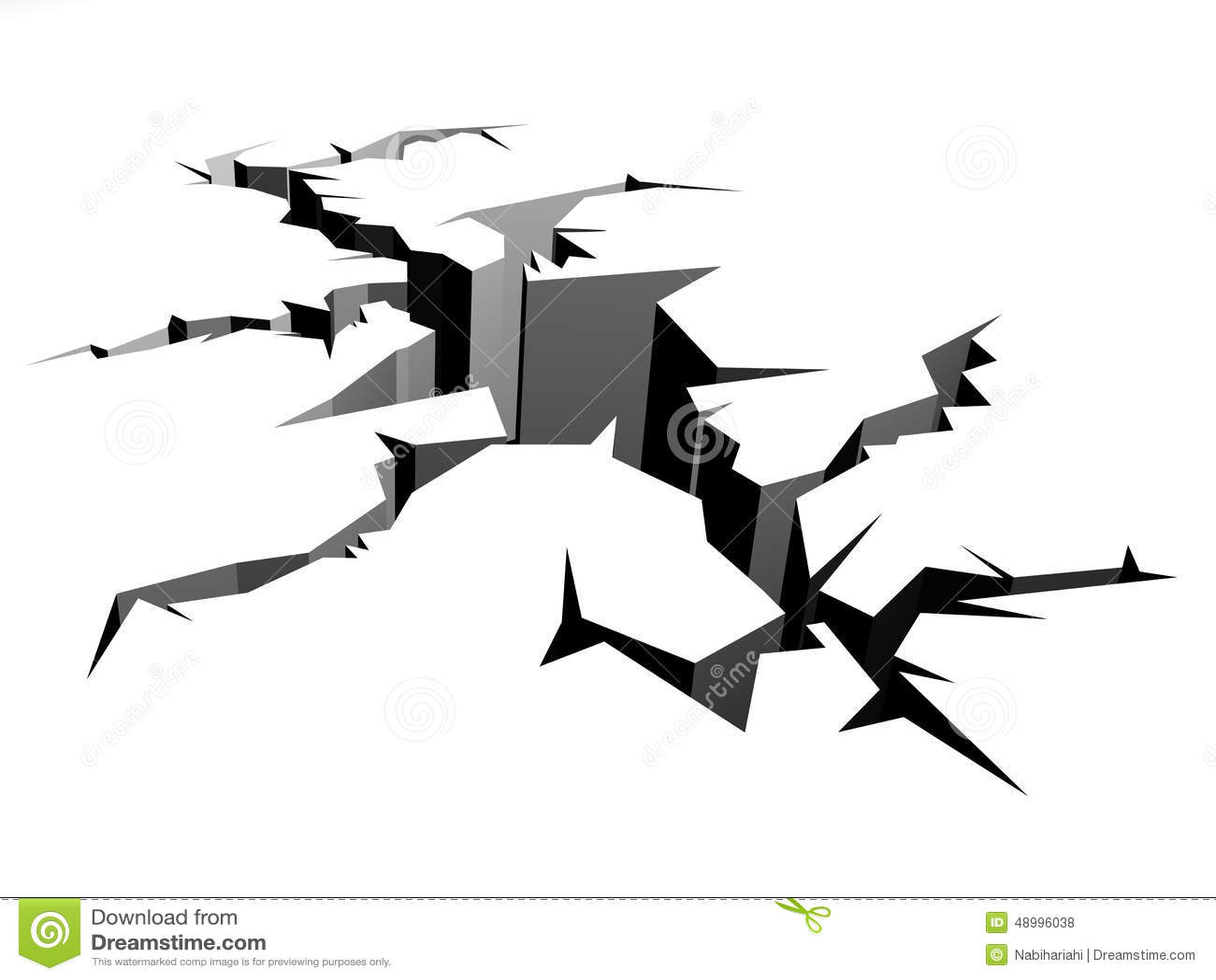 Earthquake stock illustration. Image of break, concrete ...