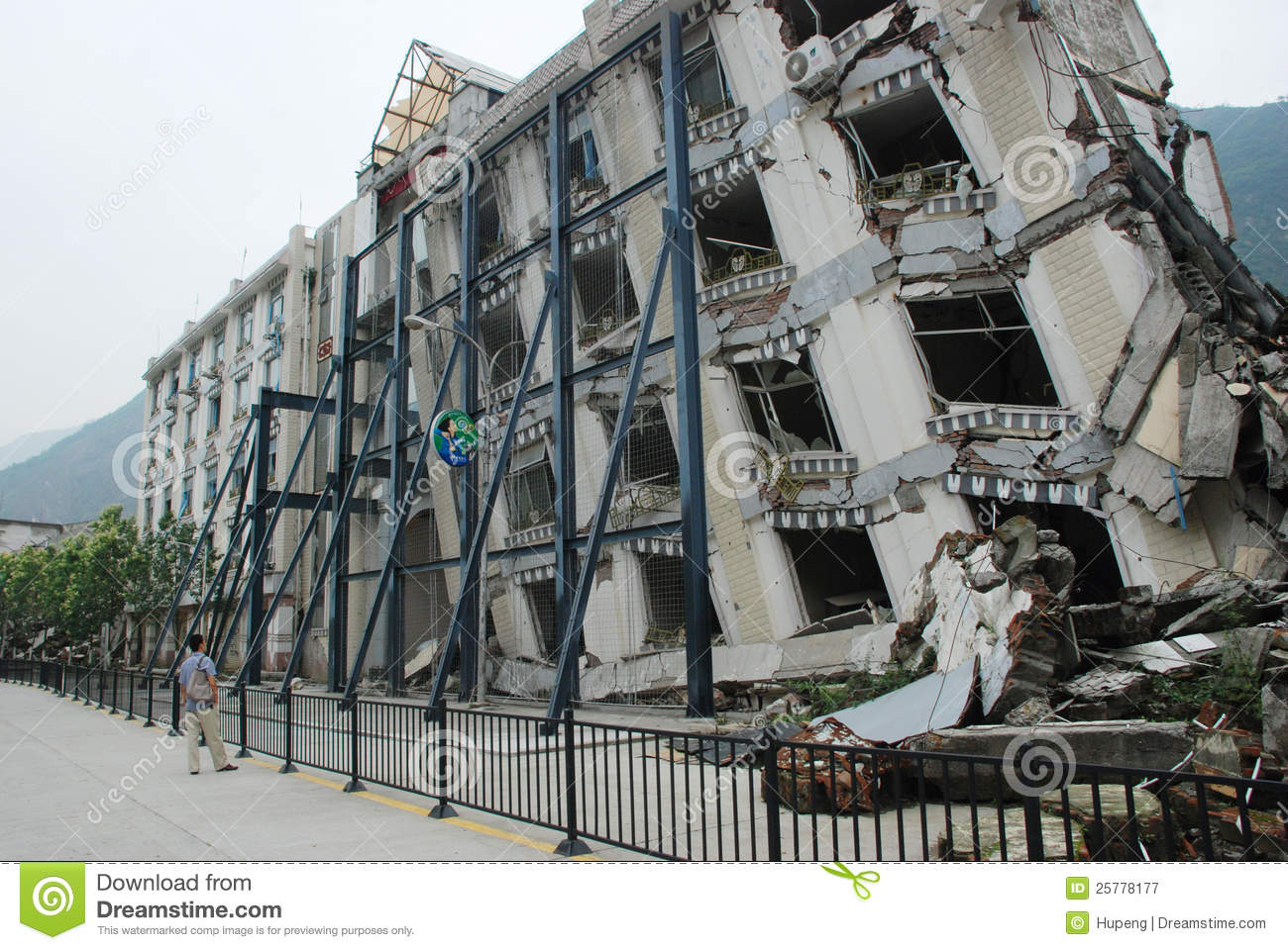 Earthquake Destroy Editorial Photography Image 25778177
