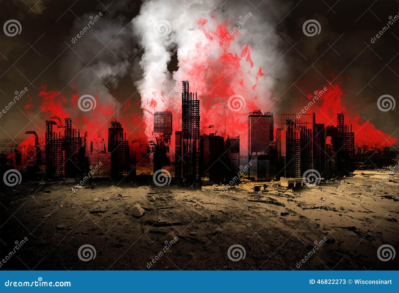 Earthquake, Natural Disaster, Apocalypse, Burning City