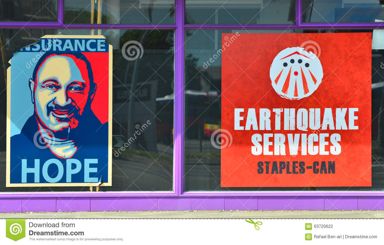 Earthquake services office in Christchurch New Zealand