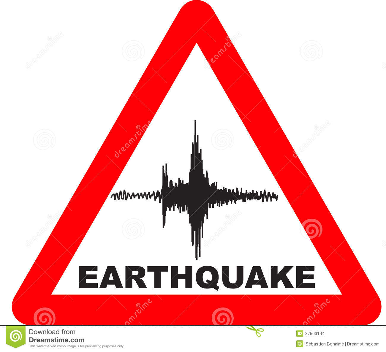 Stock Images Earthquake Warning Sign Red Triangle Image37503144 on nuclear text message