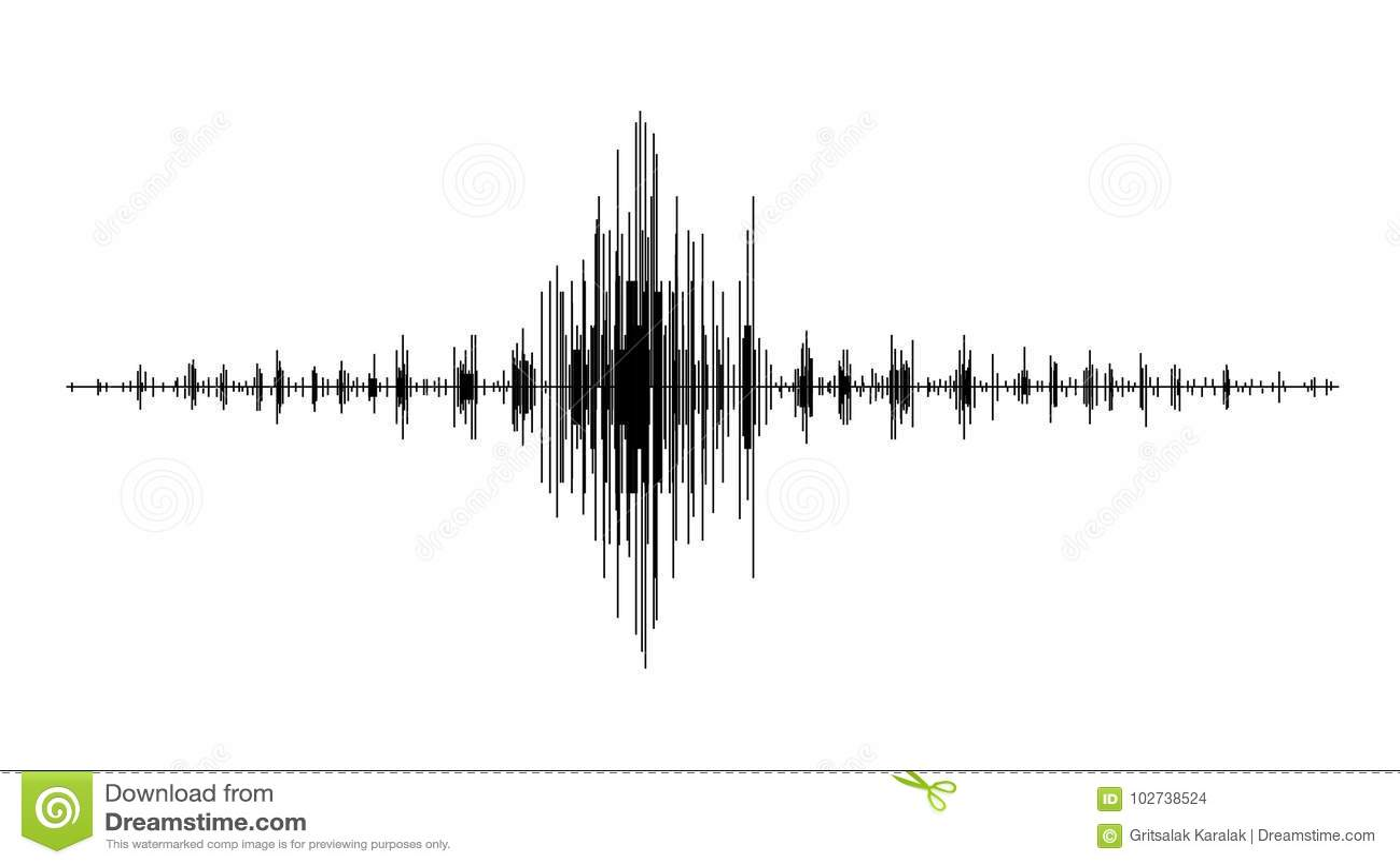 earthquake wave diagram   seismogram of different seismic