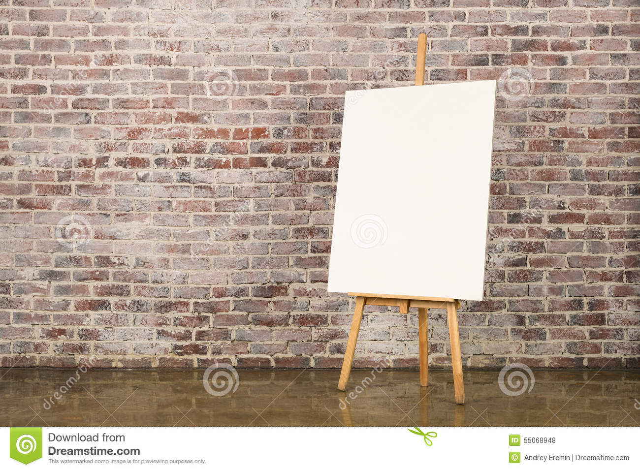 Easel With Blank Canvas Stock Photo Image 55068948