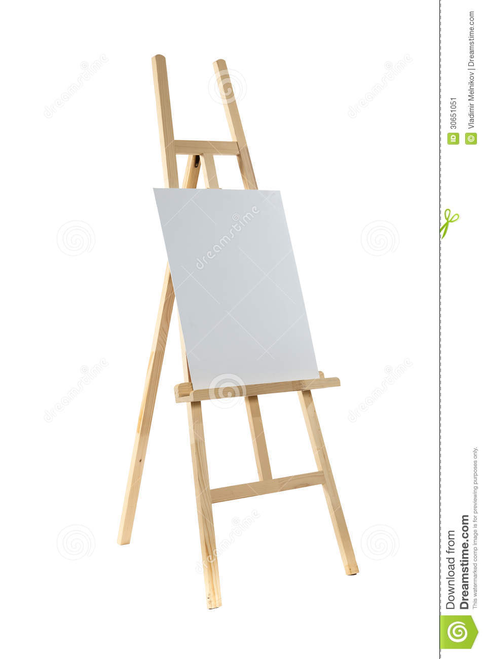 Easel With Canvas Stock Image Image 30651051