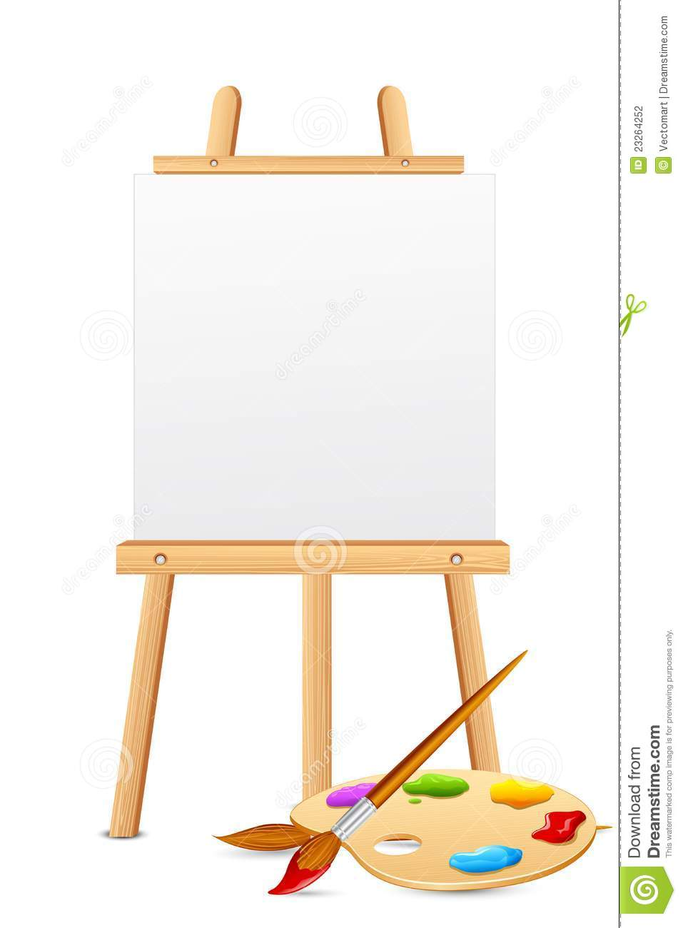Exhibition Stand Vector Free Download : Easel with color palette stock vector illustration of