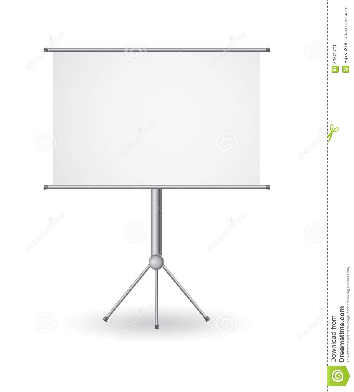 easel with empty copy space presentation stand board