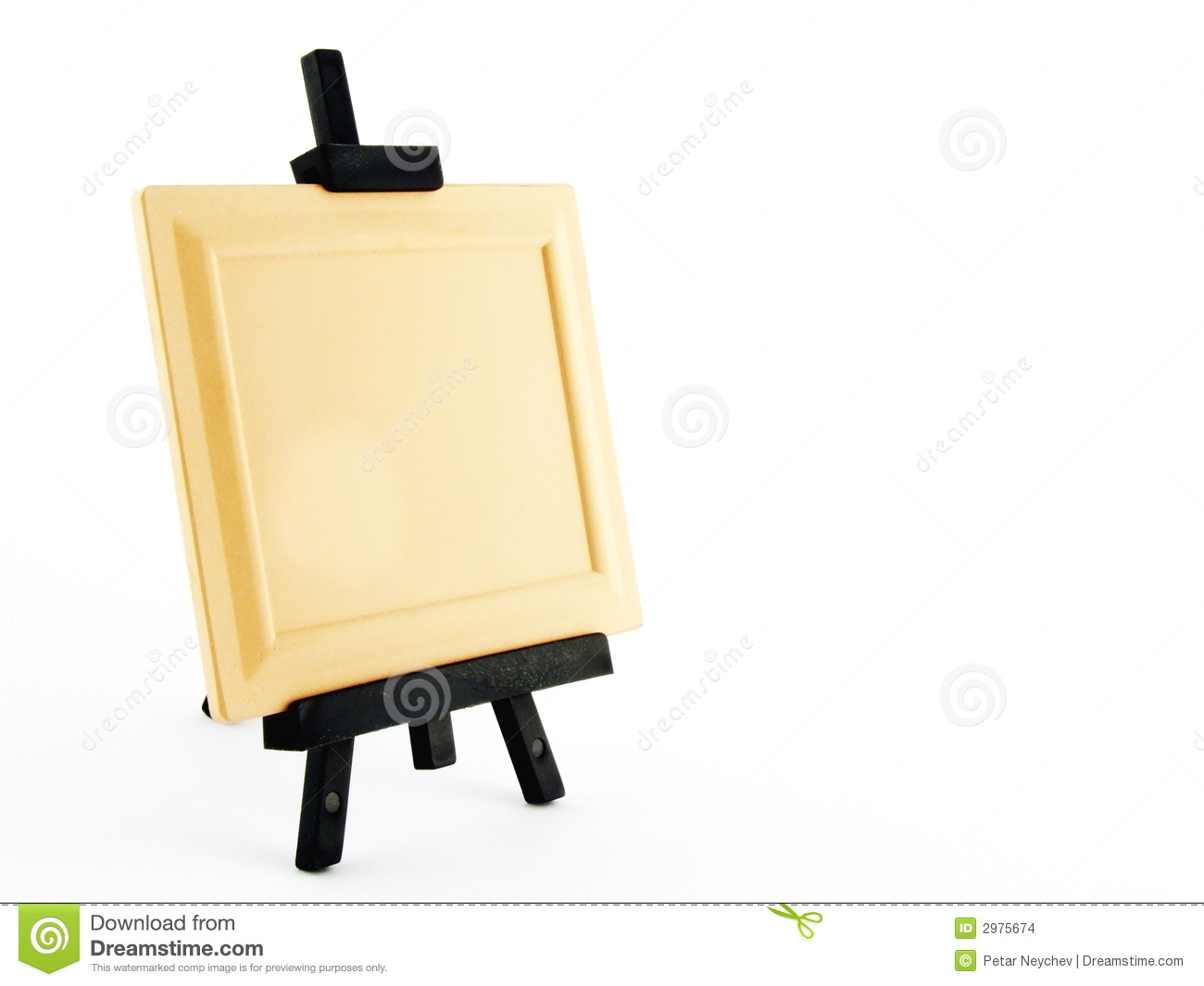 easel with empty frame