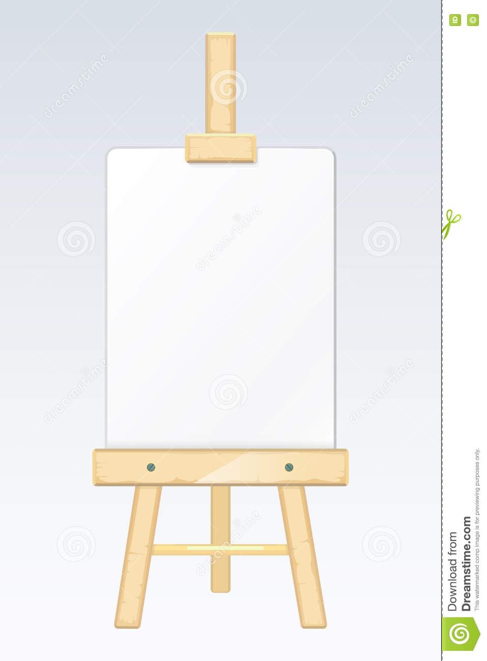 Easel Painting Desk Drawing Board With Blank White
