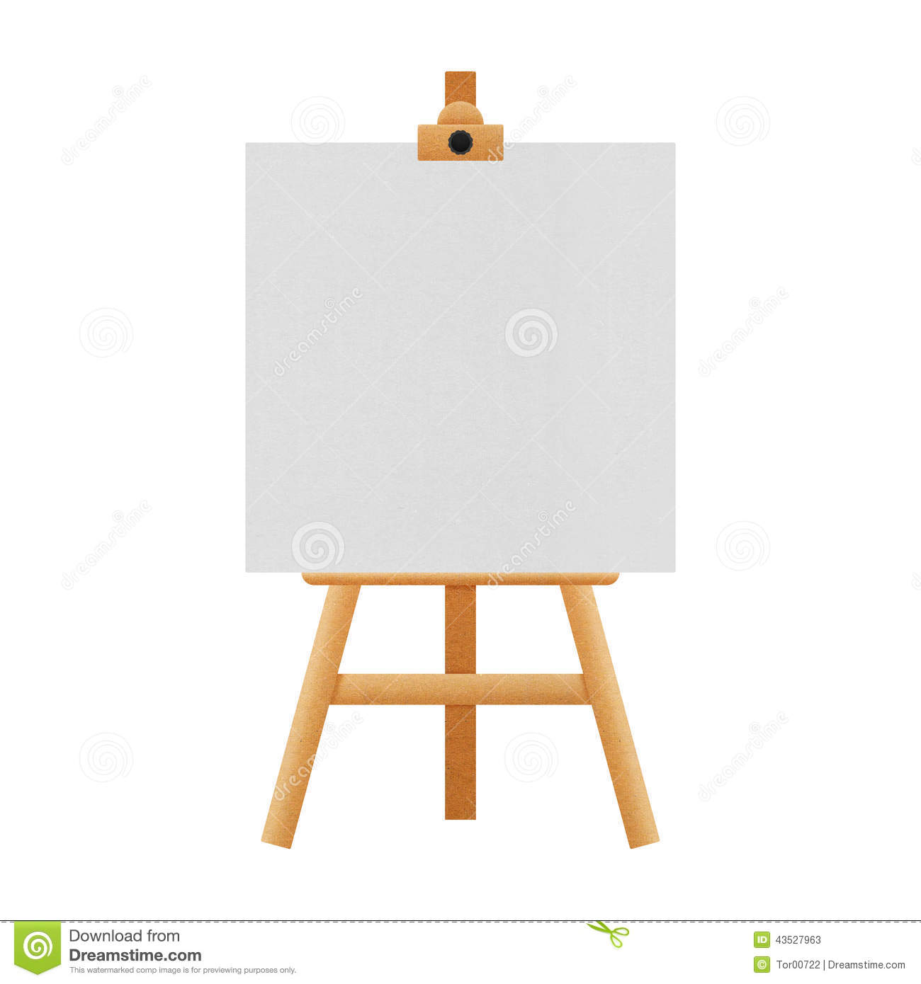 Easel stand isolated for paintings in exhibition of paper for Un stand