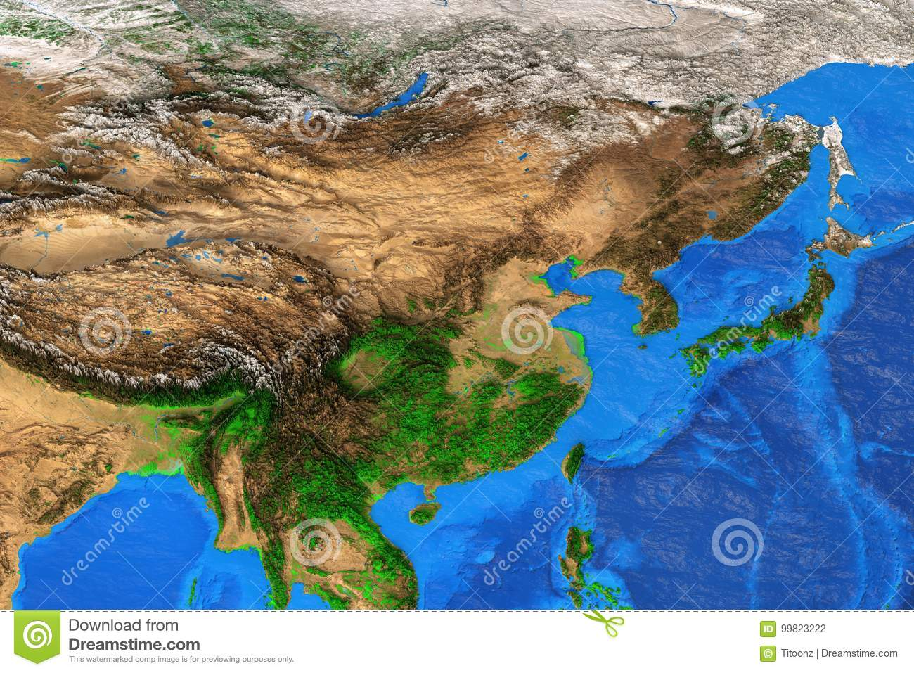 East asia high resolution map stock illustration illustration of east asia high resolution map stock illustration illustration of mountains himalayas 99823222 gumiabroncs Choice Image