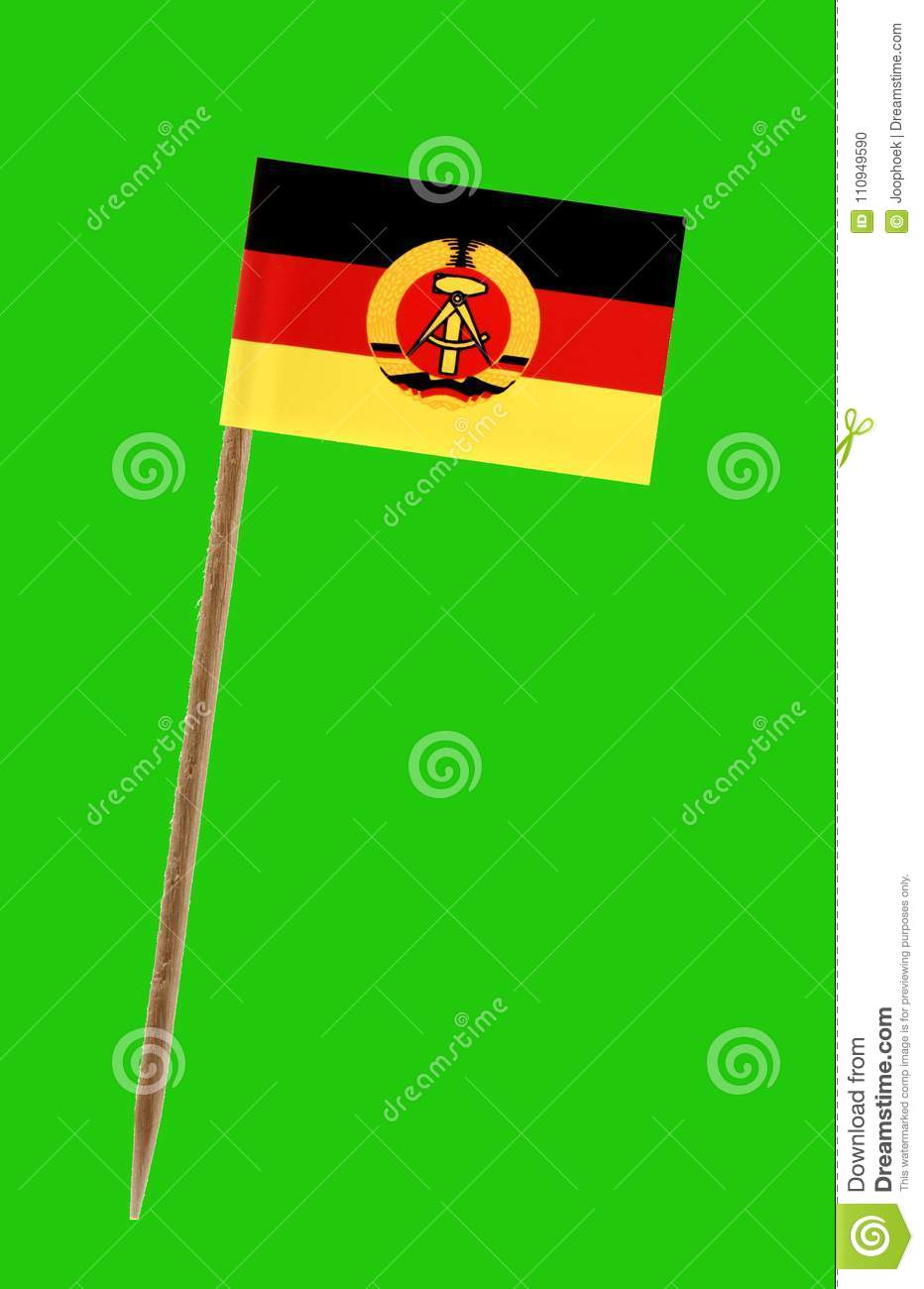 East Germany Flag ,with Green Screen For Chromakey Stock