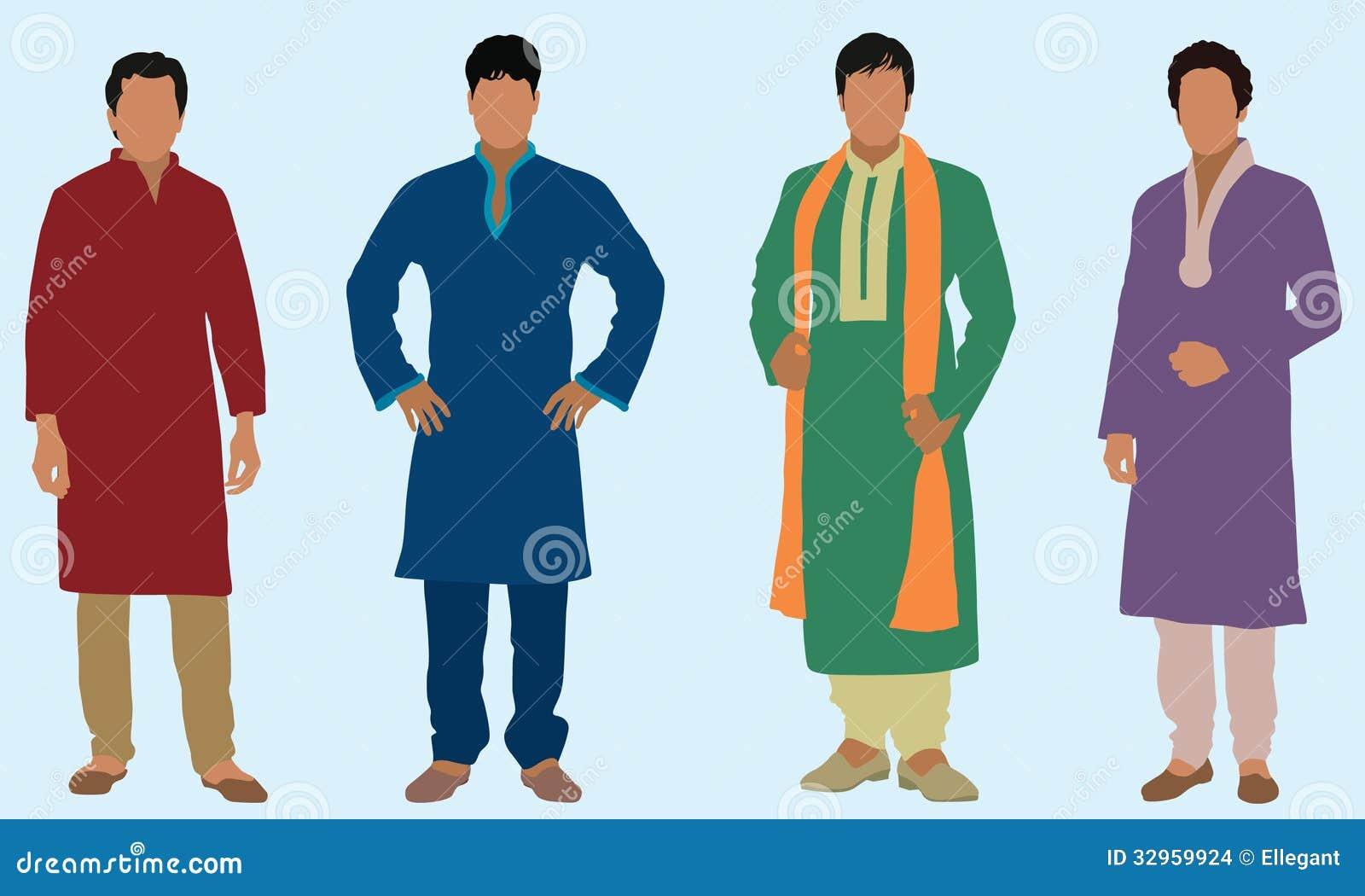 East Indian Men Stock Vector Illustration Of Silhouette 32959924
