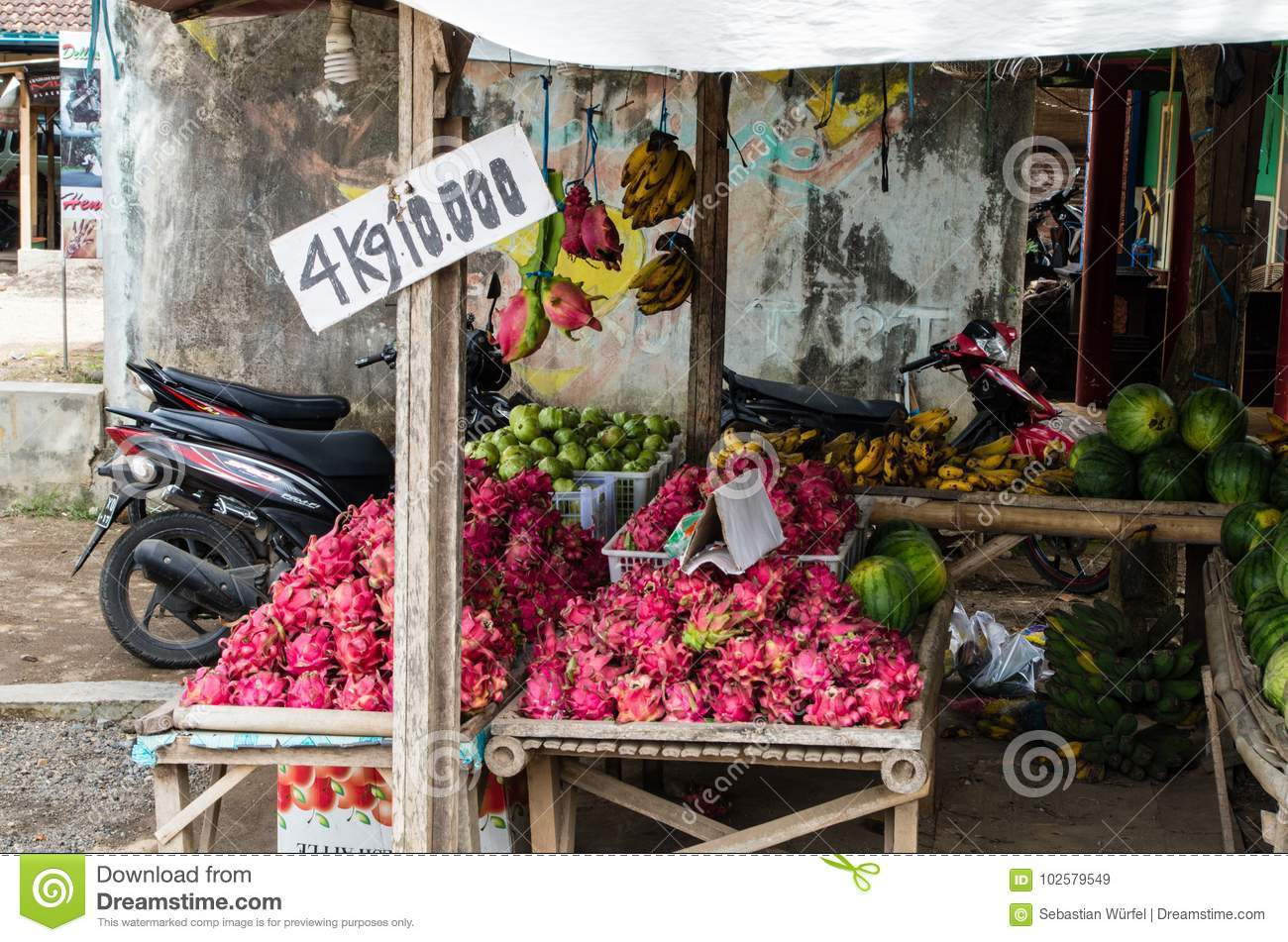 EAST JAVA, INDONESIA JANUARY 2017: Local Shop Where You Can