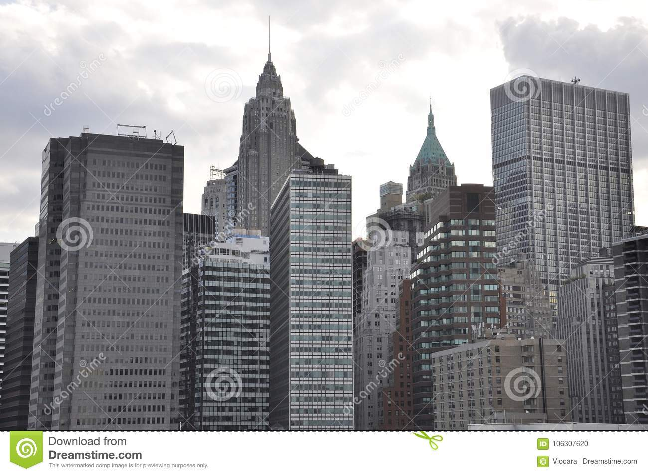 East Manhattan Skyscrapers from New York City in United States