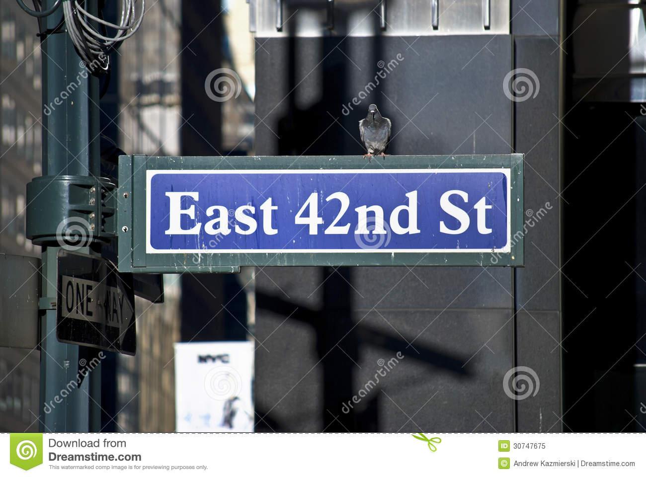 East 42nd St stock image. Image of sign, urban, travel ...