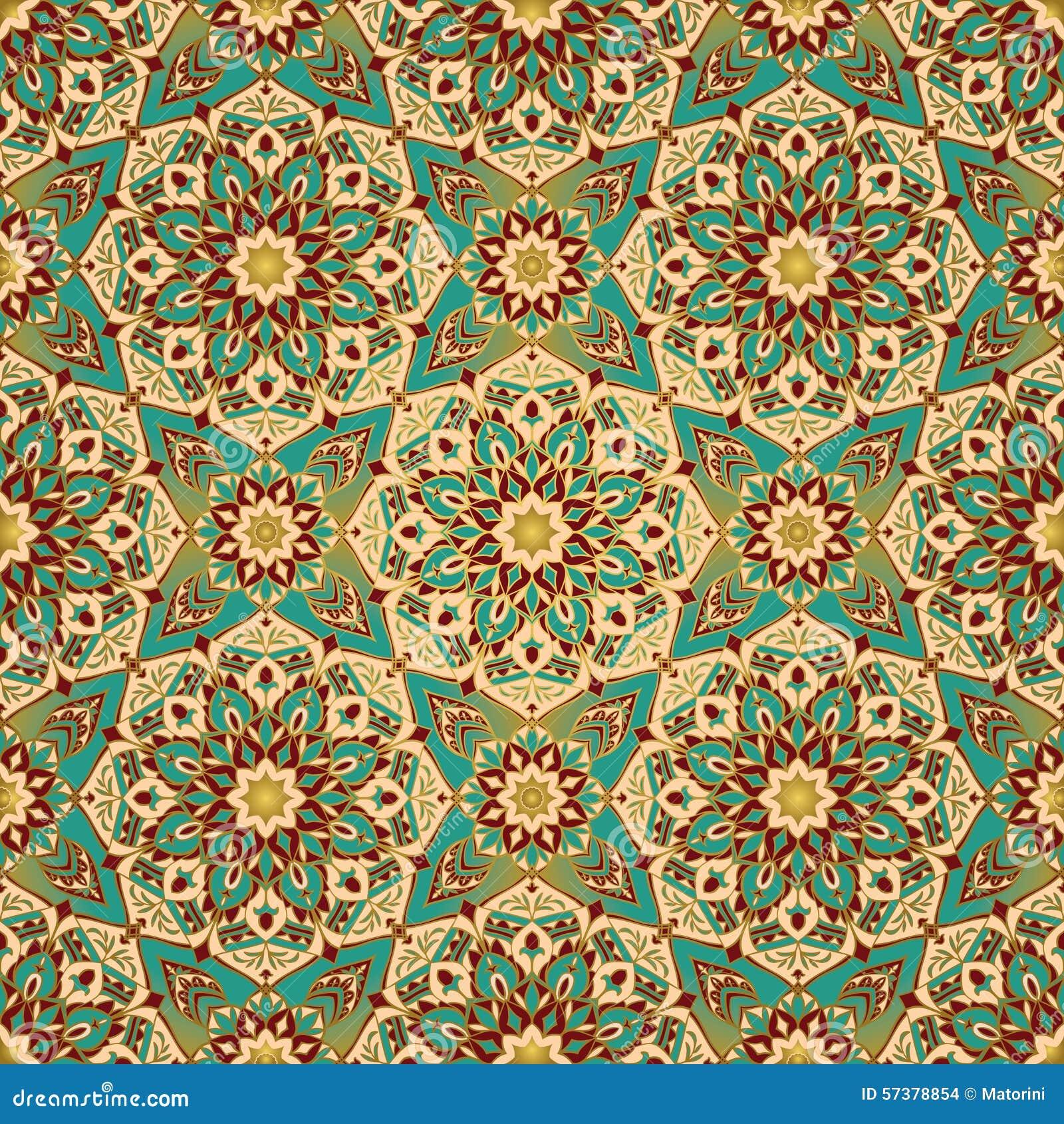 East Ornate Geometric Decor Stock Vector Image 57378854