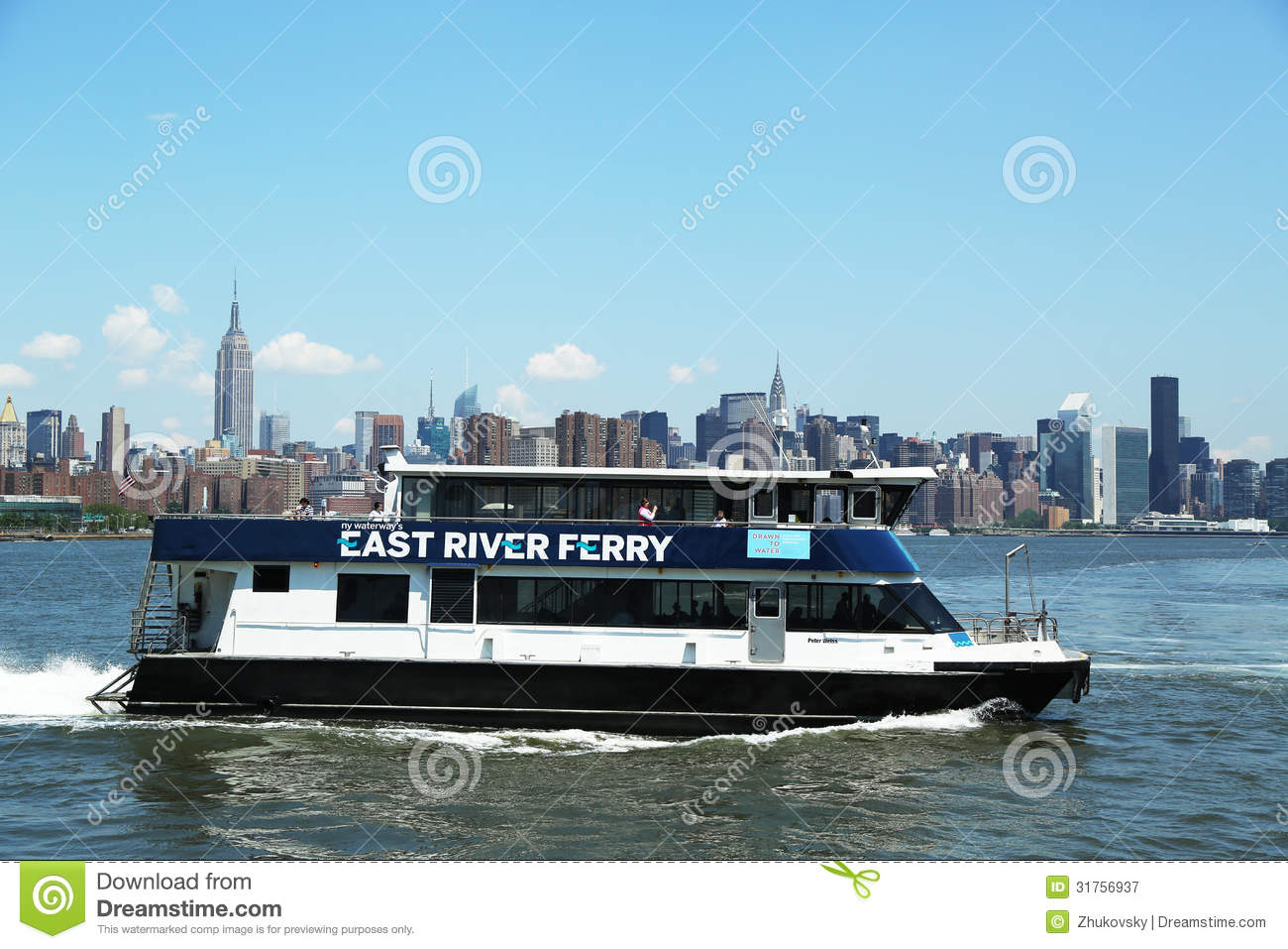 East River Ferry Boat Rides In Midtown Manhattan Editorial Photography - Image: 31756937