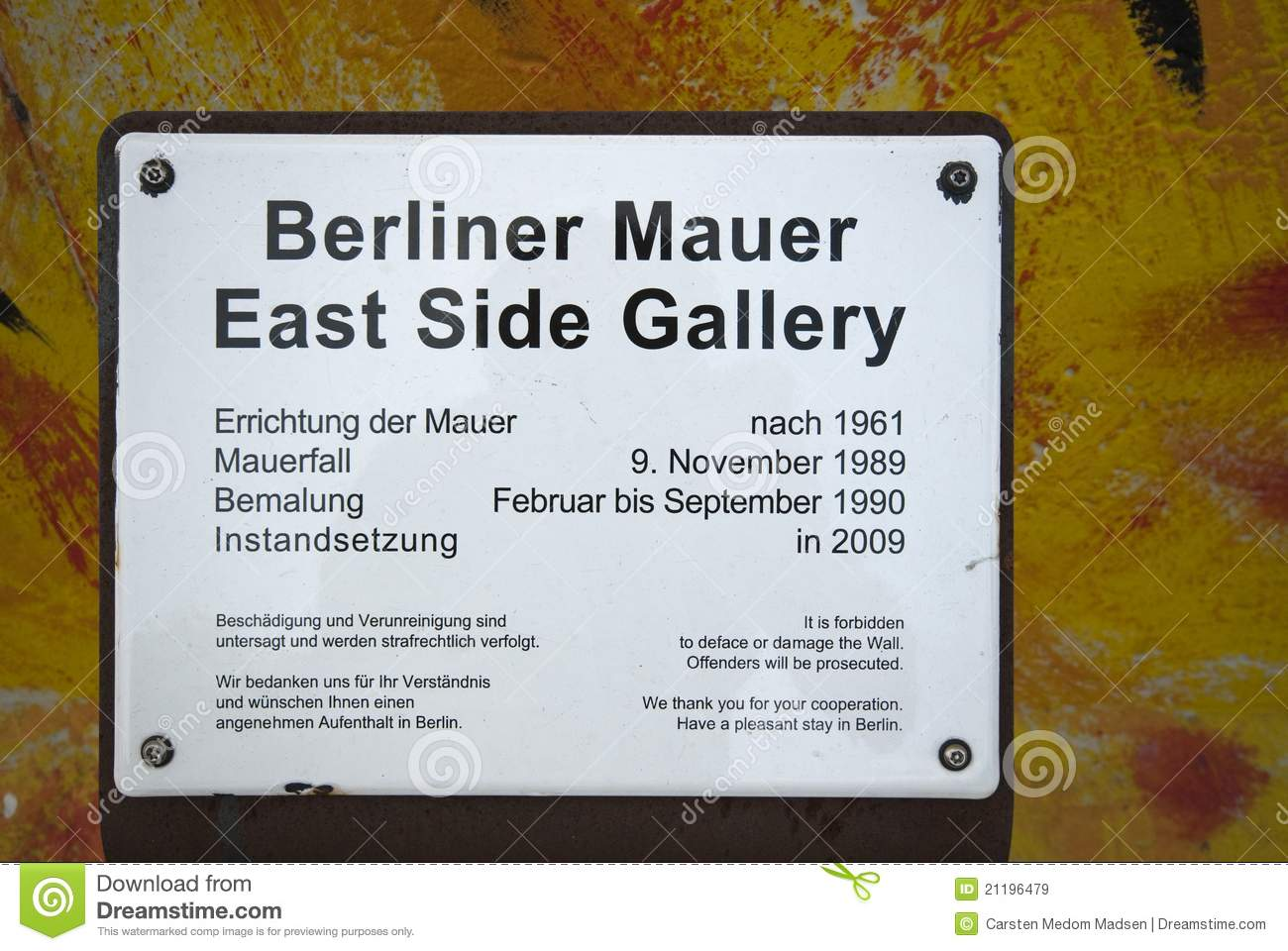 East Side Gallery Sign