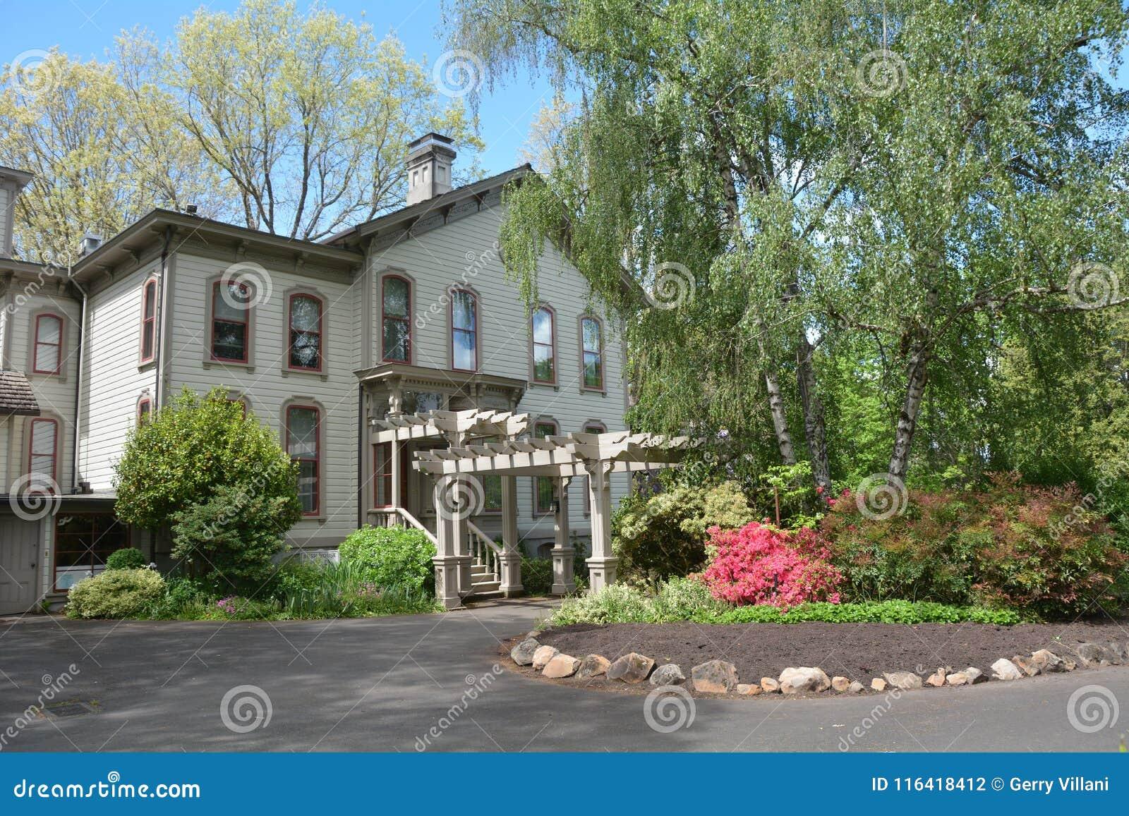 East Side of Historic Bush House in Salem, Oregon