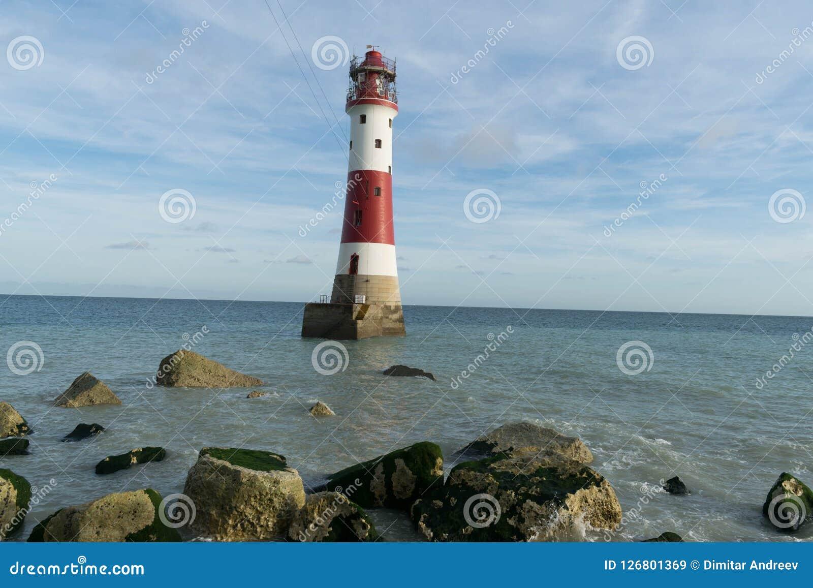 16/09/2018 Eastbourne, Zjednoczone Królestwo kierujcie beachy latarnia morska