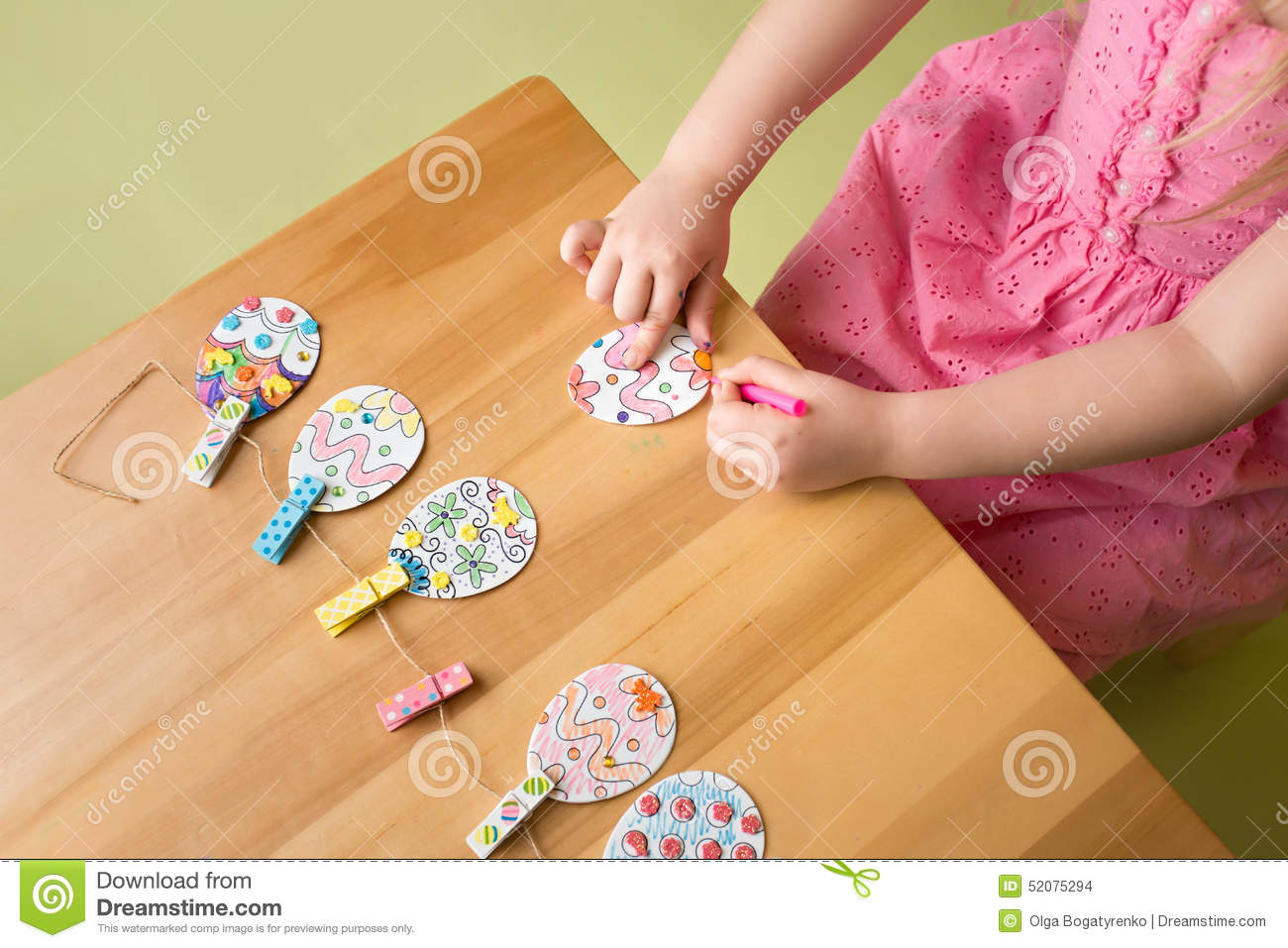 Easter Activities And Crafts Stock Photo Image Of Easter