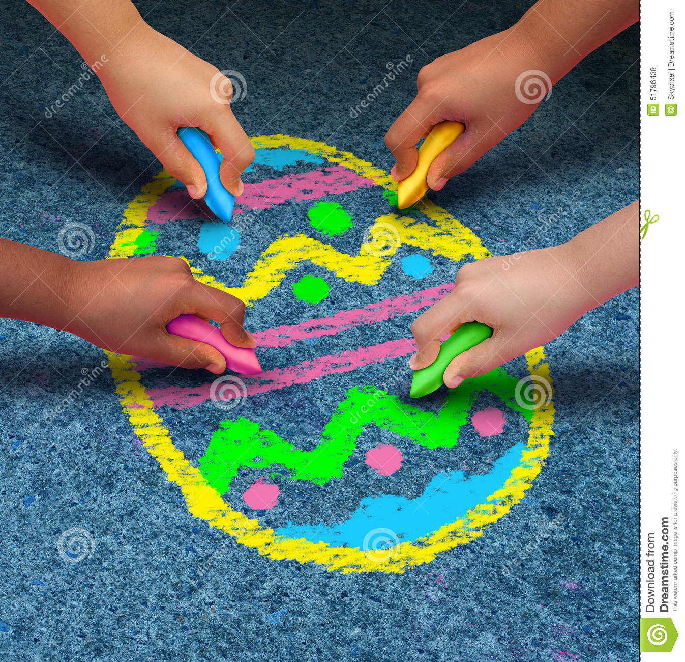Easter arts and crafts stock illustration image of for Children arts and craft