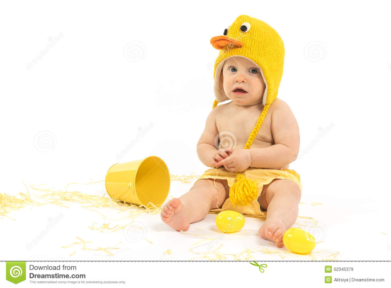 25edc7bb0 Easter Baby In Duck Costume Stock Image - Image of disguise, duck ...