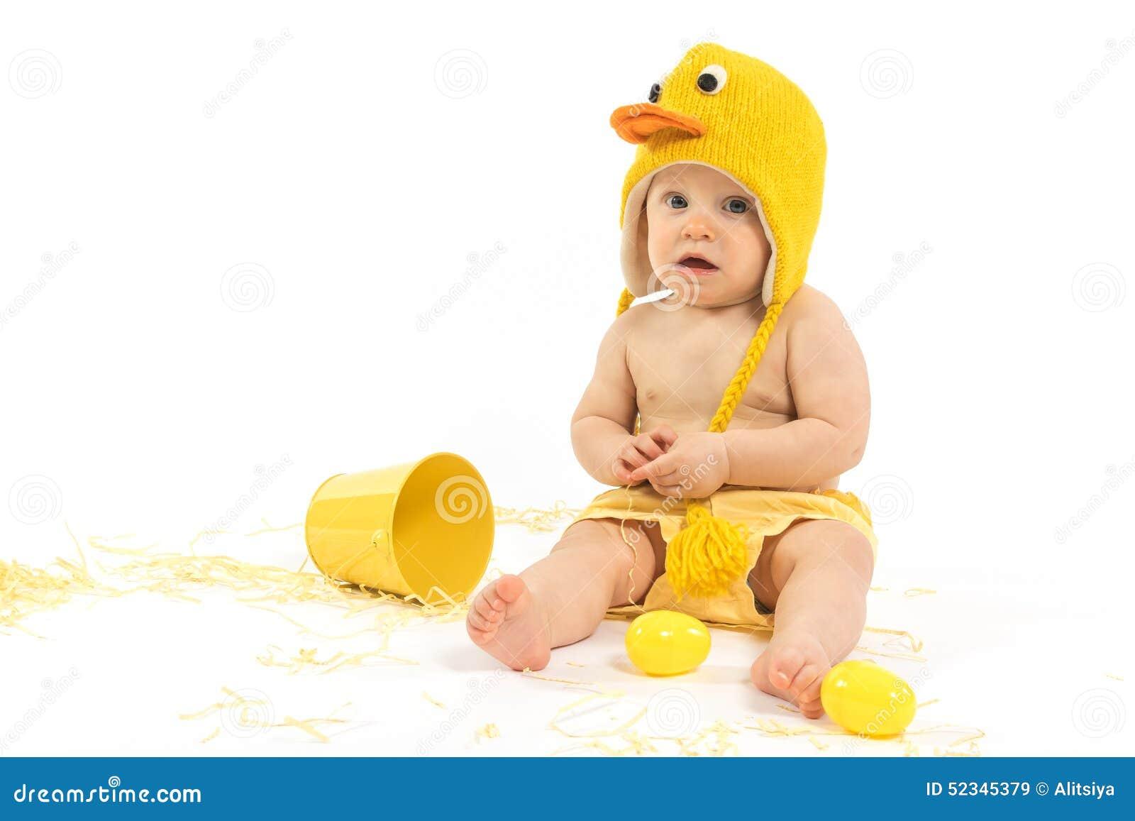 Easter Baby in Duck Costume