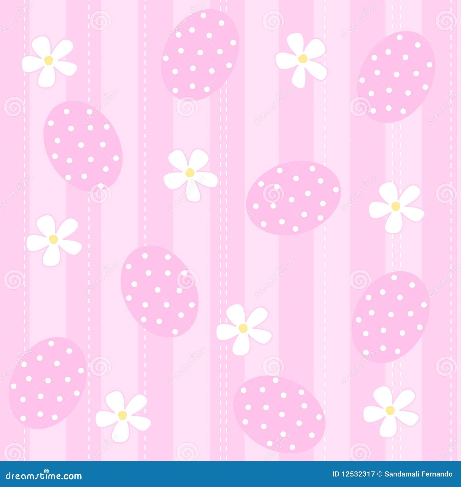 light pink and white polka dot wallpaper