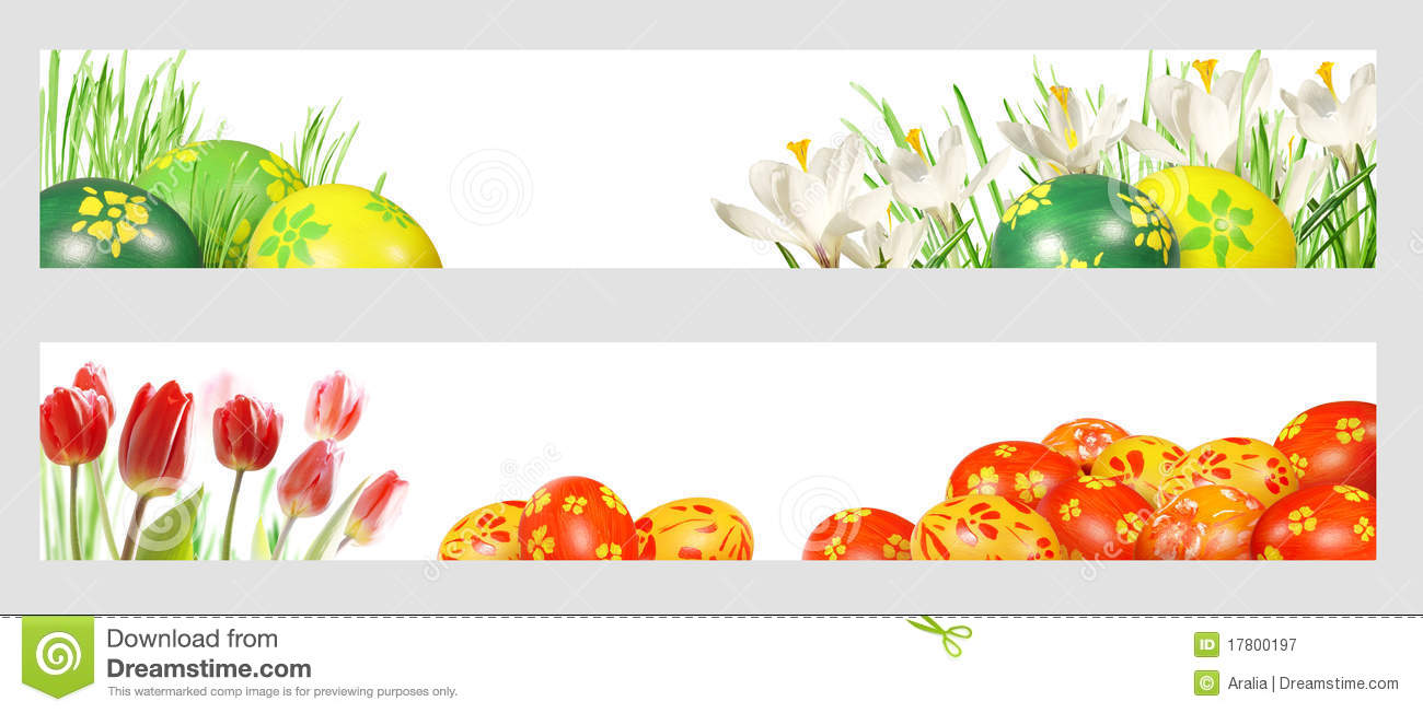 Easter Banners Royalty Free Stock Photography - Image: 17800197
