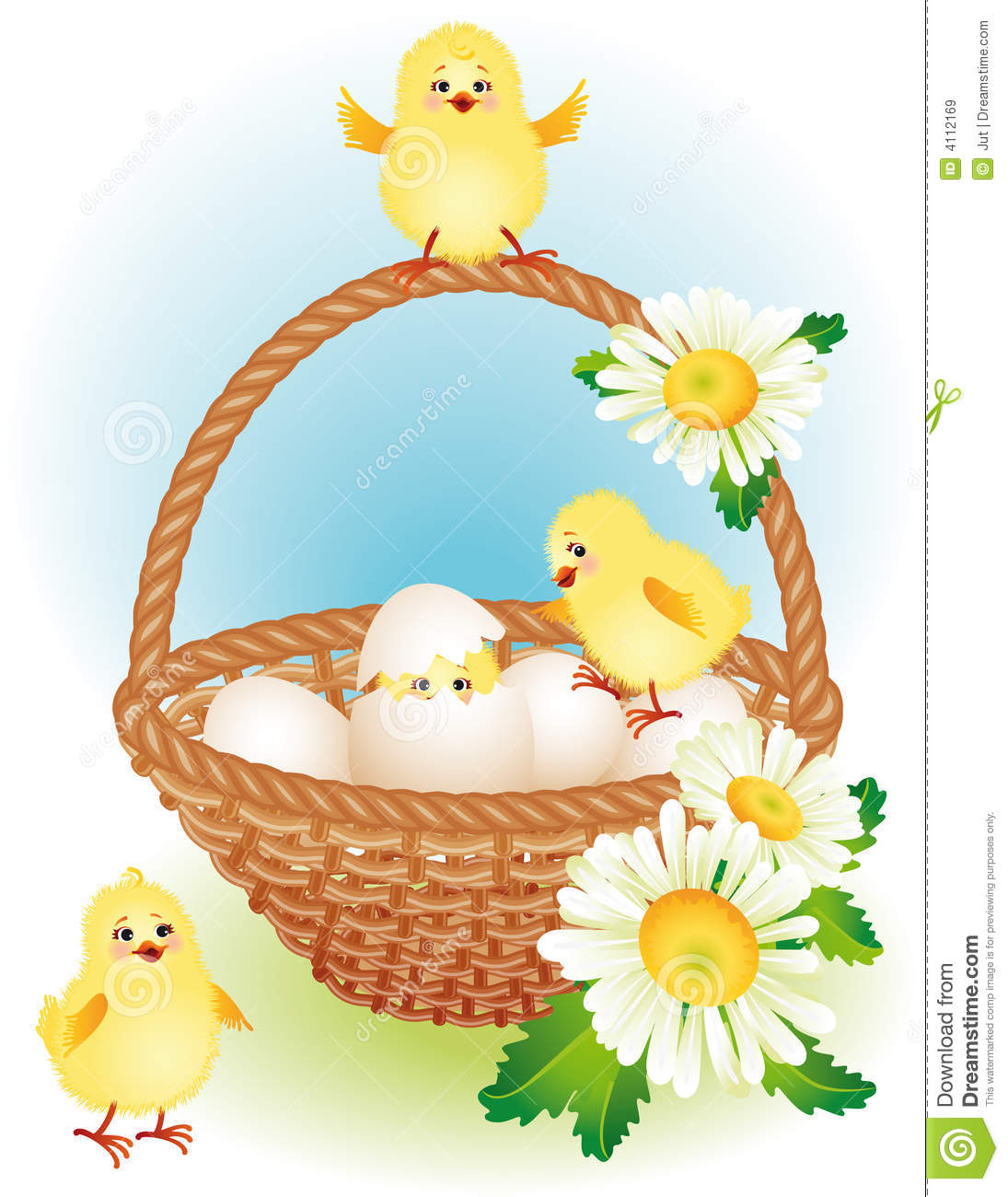 Easter Basket Royalty Free Stock Images Image 4112169